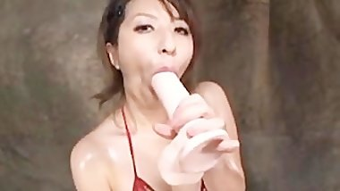 Riko Nishikawa Riding Her Dildo asian cumshots asian swallow japanese chine